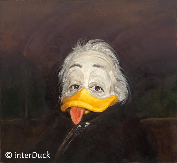 """Albert Duckstein Sonderausstellung """"Duckomenta"""" im Archäologischen Museum Hamburg Copyright: interDuck"""