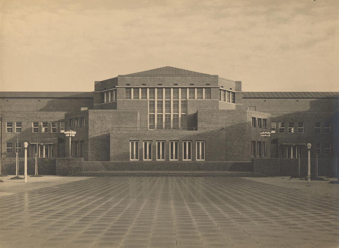 Ansicht-Friedrich-Ebert-Halle-1930 Ausstellung Archäologisches Museum Hamburg