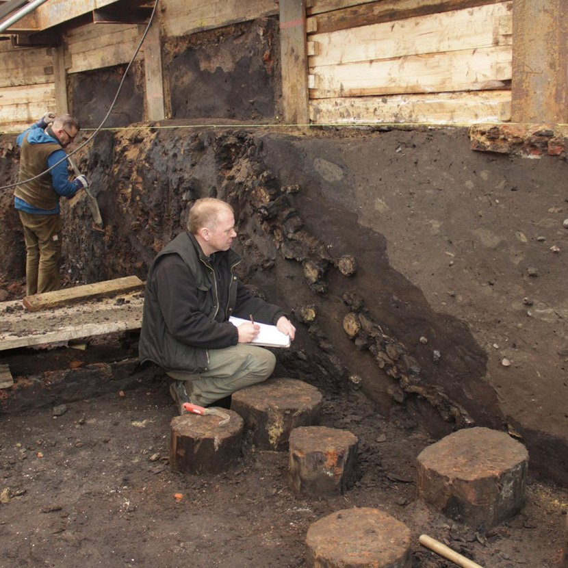 "Excavation at the ""New Castle"""