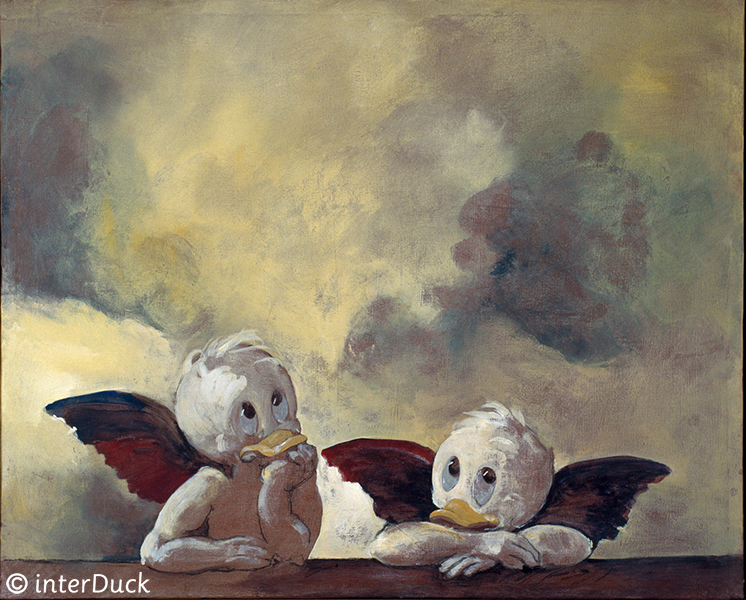 """Cherubini Sonderausstellung """"Duckomenta"""" im Archäologischen Museum Hamburg Copyright: interDuck"""