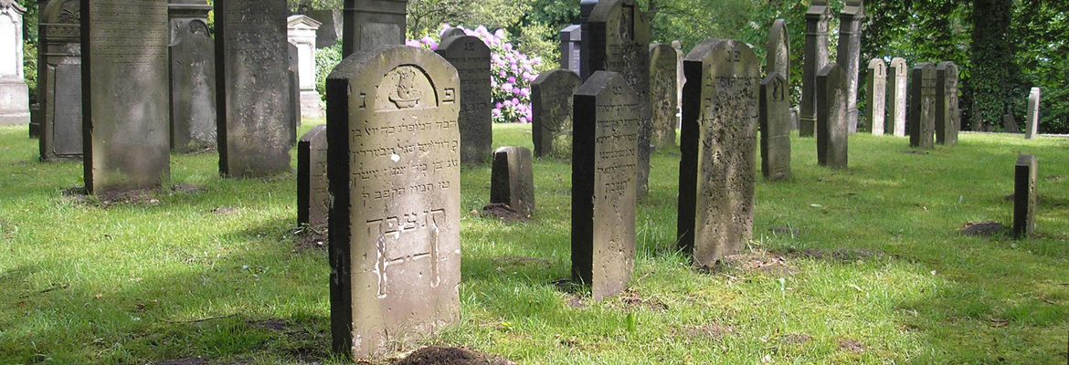 The Jewish cemetery in Harburg