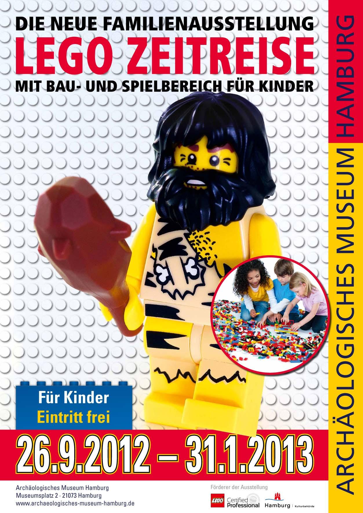 Plakat Lego Zeitreise | Sonderausstellung Archäologische Museum Hamburg