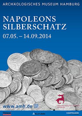 Plakat-Napoleons Silberschatz | Sonderausstellung Archäologische Museum Hamburg