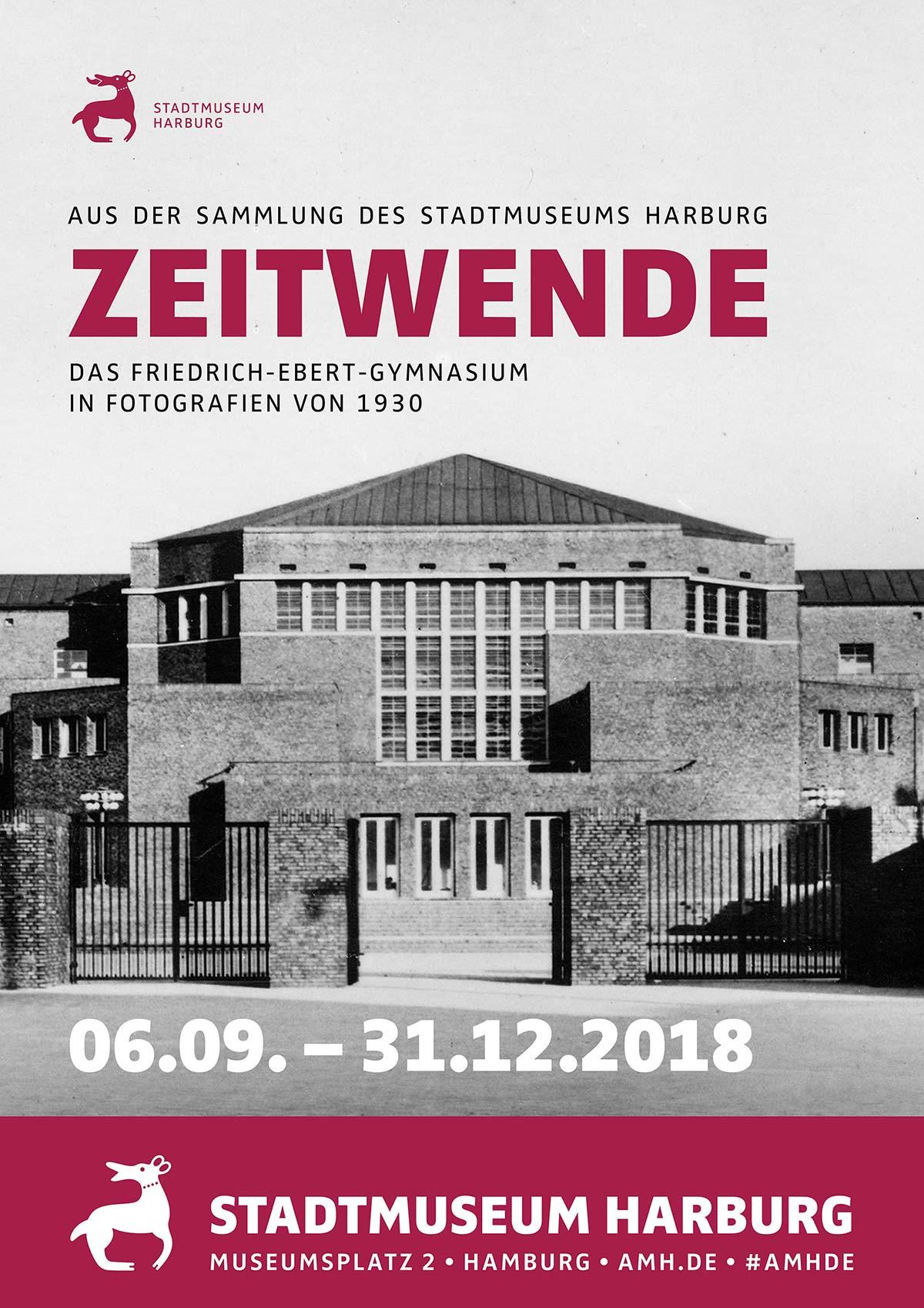 Plakat für die Ausstellung Zeitwende im Friedrich Ebert Gymnasium | Stadtmuseum Harburg