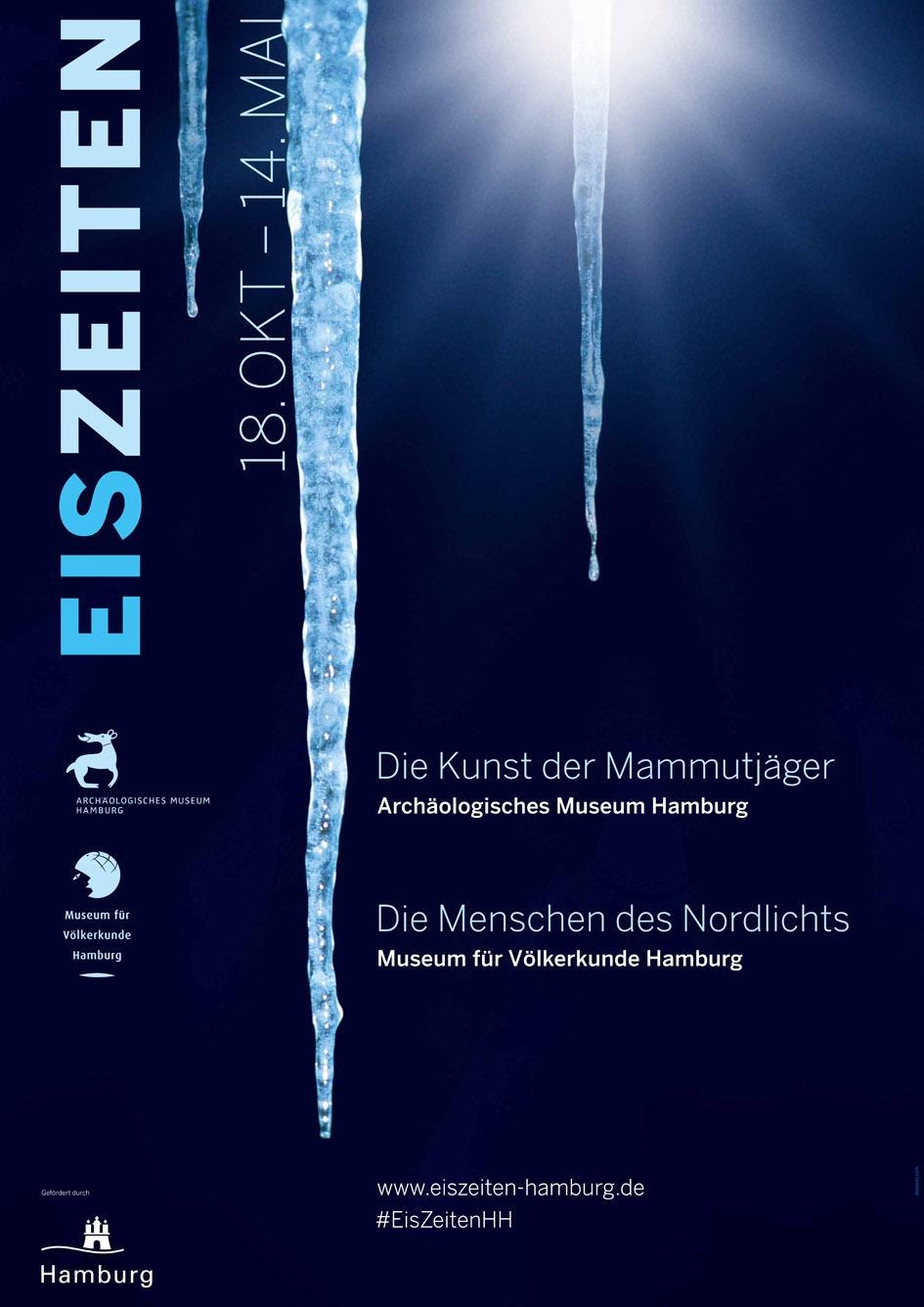 EisZeiten Plakat | Sonderausstellung Archäologisches Museum Hamburg